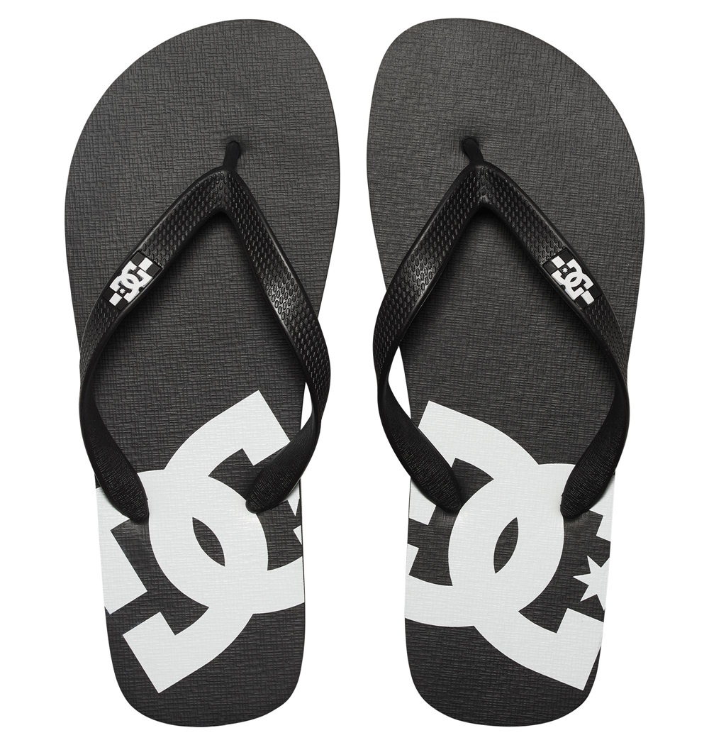 Chanclas Dc Shoes modelo Spray en color negro con blanco para hombre-b