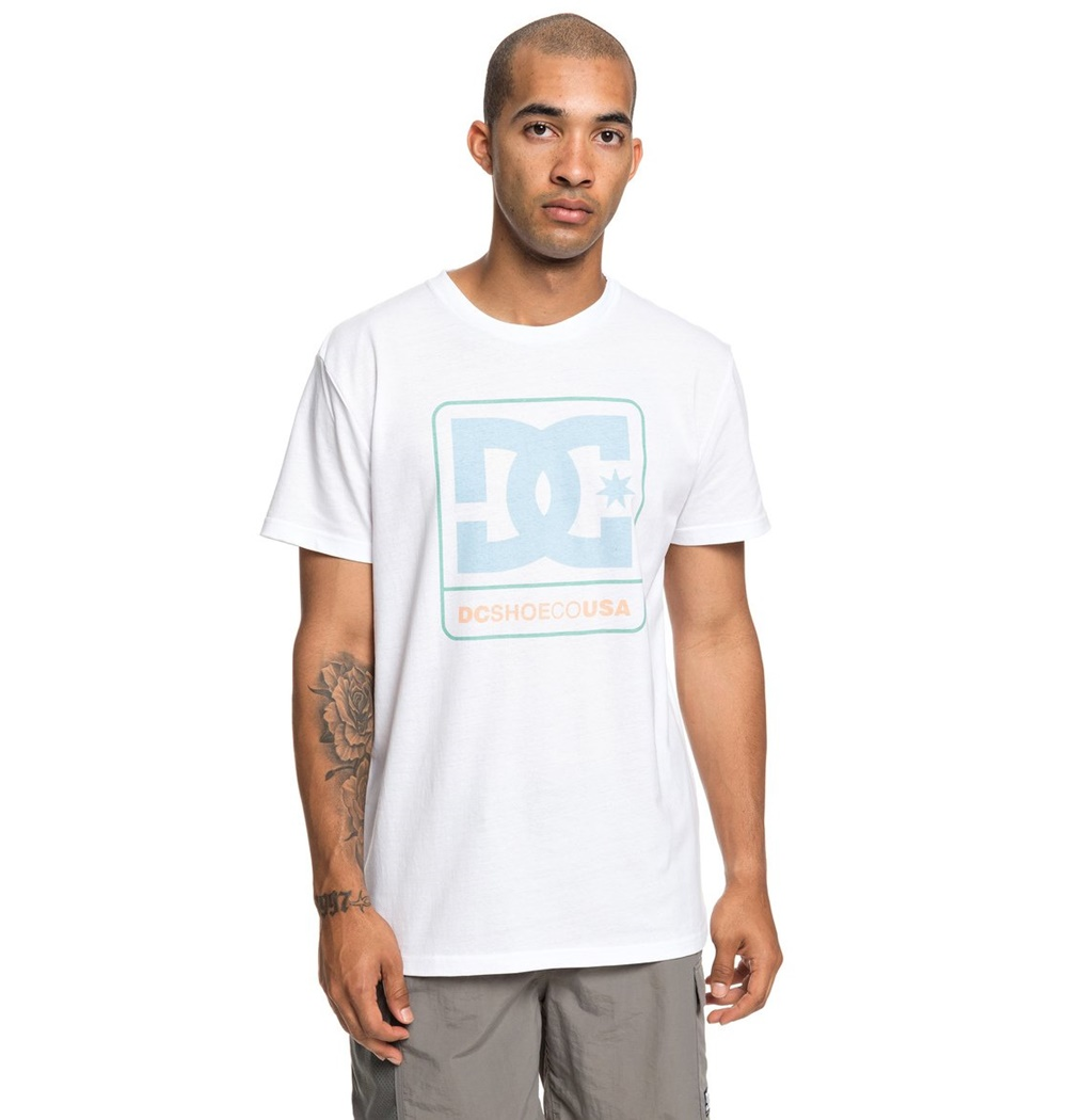 DC SHOES CLOUDLY SS M TEES SNOW WHITE