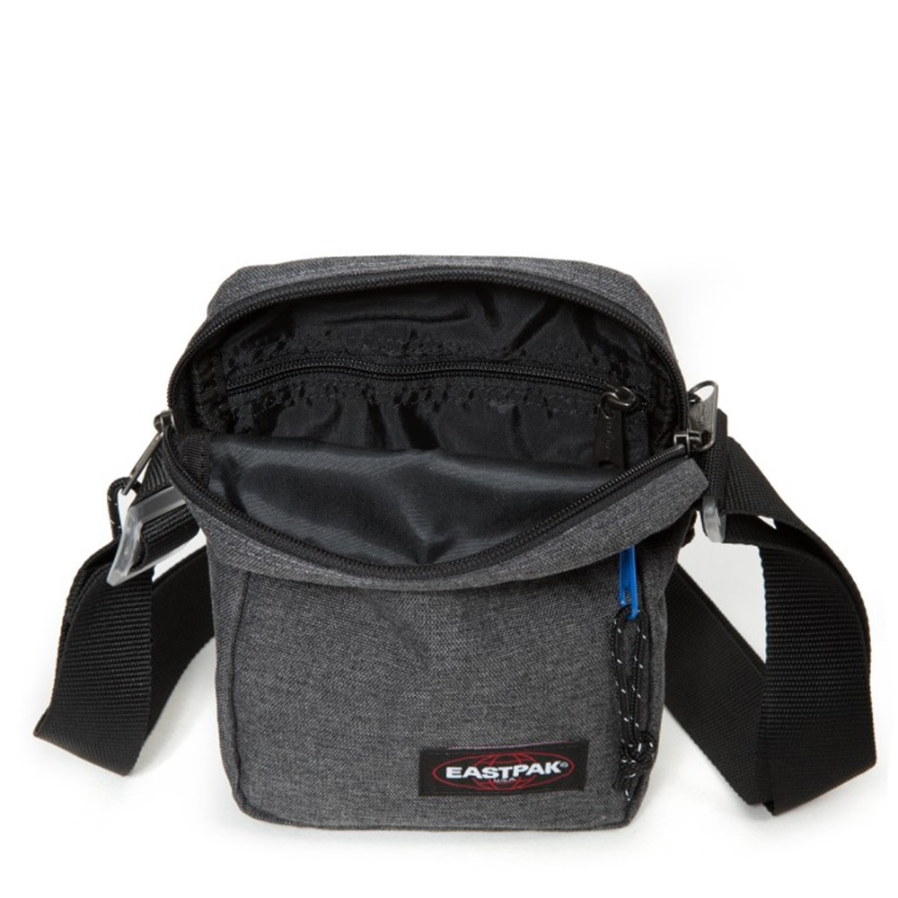 Bandolera Eastpak modelo The One en color gris oscuro
