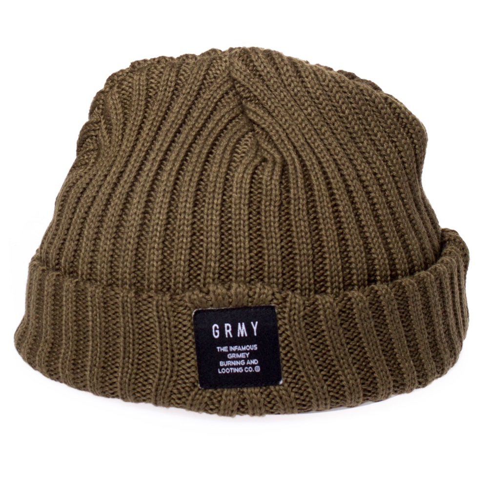 Gorro Grimey modelo Natural Fisher Beanie en color verde-b
