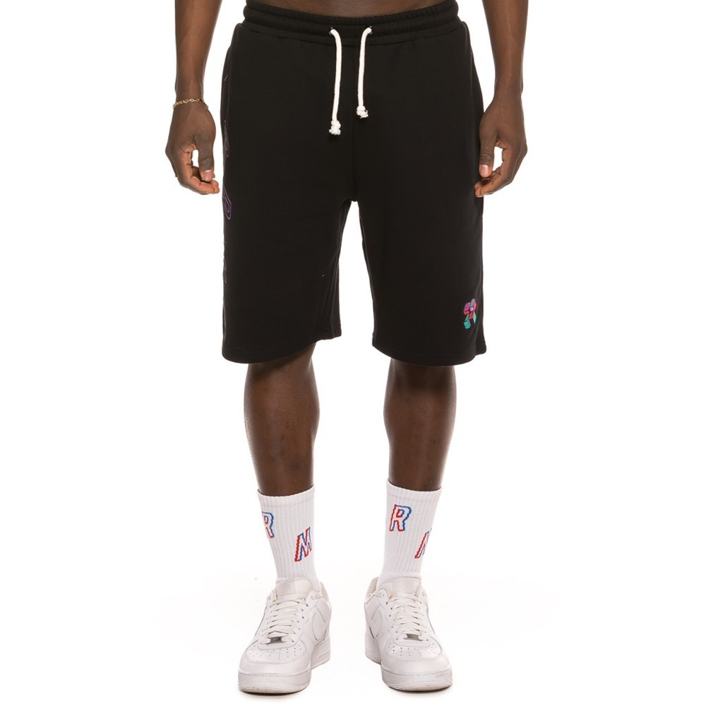 GRIMEY BRICK TOP SWEATSHORTS BLACK