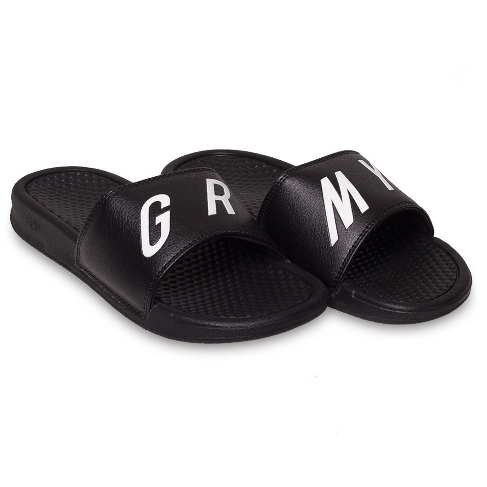 GRIMEY HAPPY END F.A.L.A. SLIDERS BLACK
