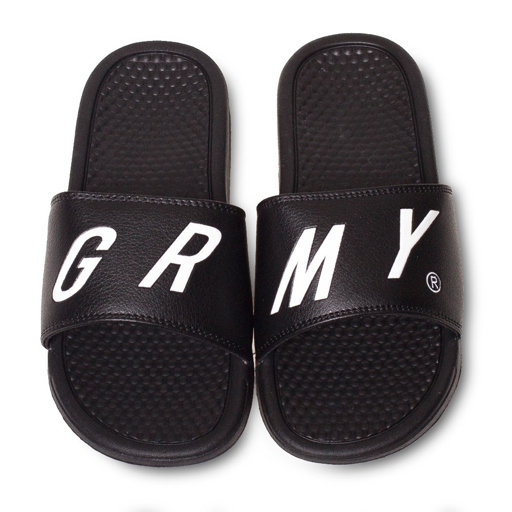 Chanclas GRIMEY HAPPY END F.A.L.A. SLIDERS para hombre en color negro-a