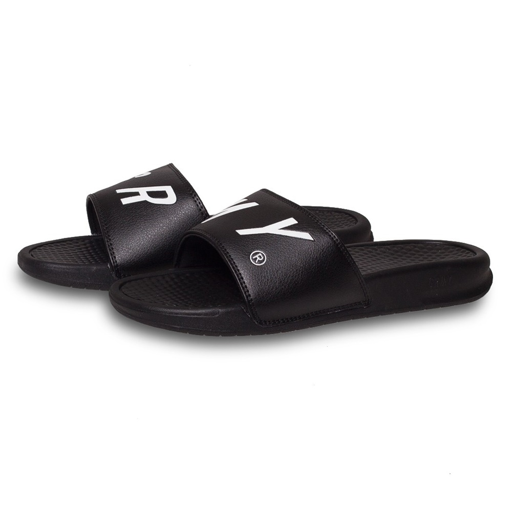 Chanclas GRIMEY HAPPY END F.A.L.A. SLIDERS para hombre en color negro-b
