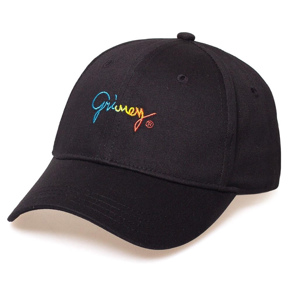 GRIMEY LAUGHING BOY GRADIENT CURVED VISOR CAP BLACK