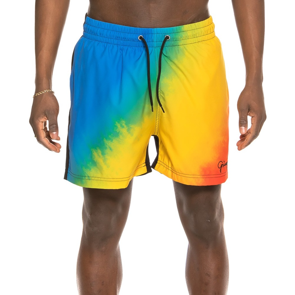 GRIMEY LAUGHING BOY SWIMMING SHORTS BLUE