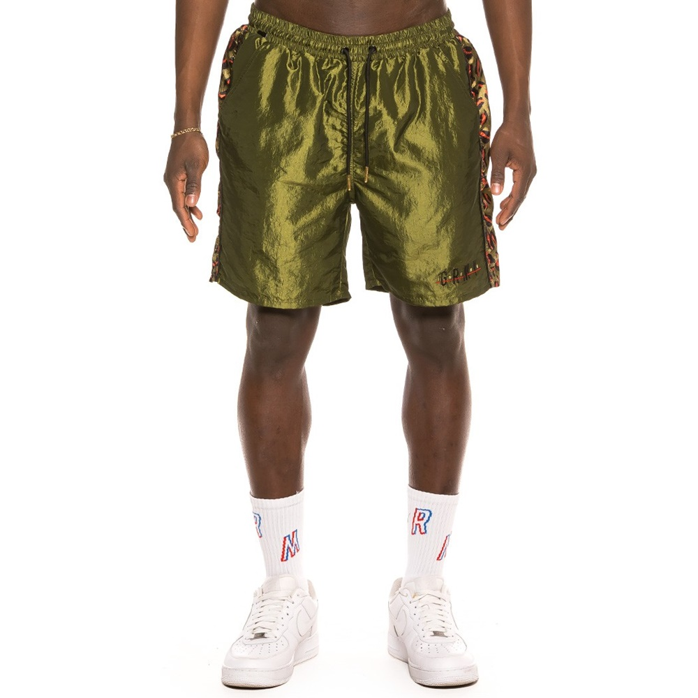 GRIMEY MIDNIGHT CHAMELEON RUNNING SHORTS GREEN