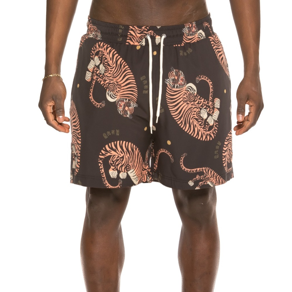 GRIMEY TRANSSIBERIAN SWIMING SHORTS BLACK