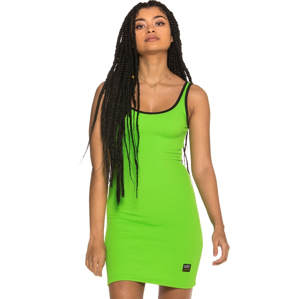 GRIMEY ULTIMATE SUMMER DRESS LIME