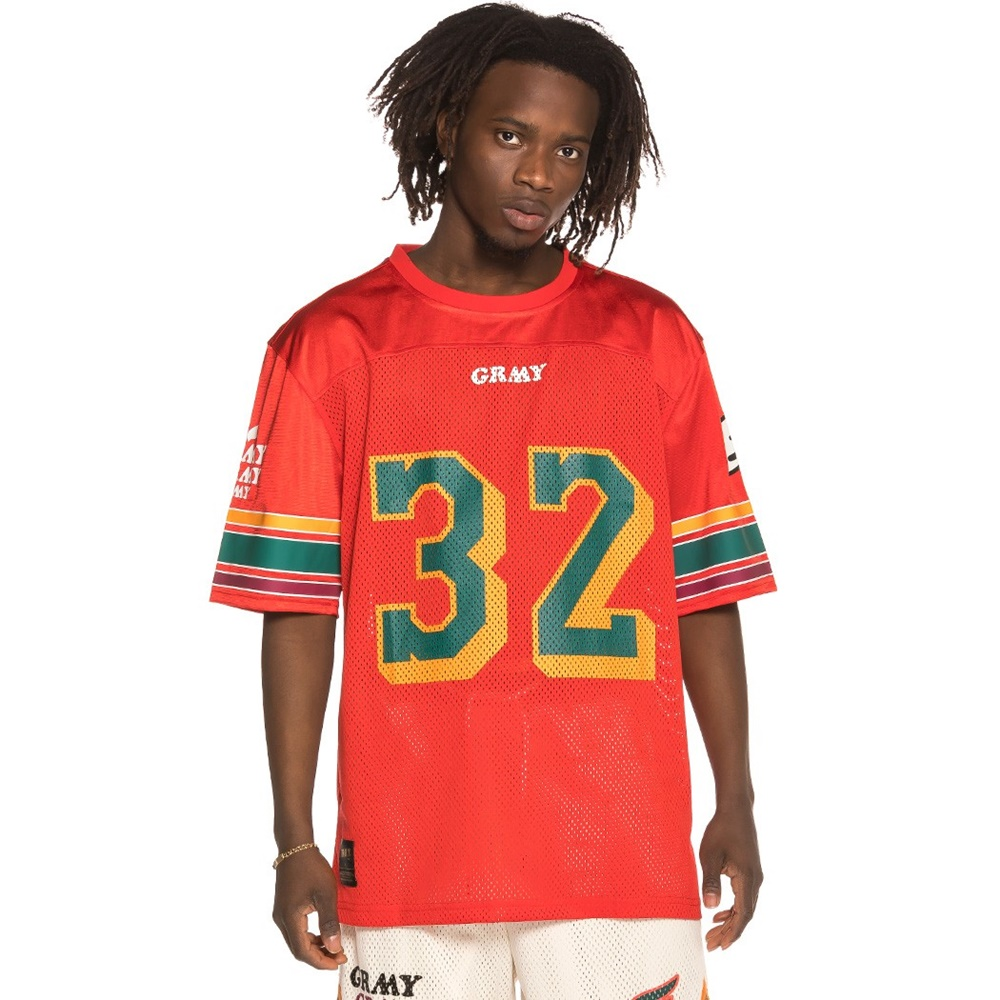 GRIMEY WILD CHILD FOOTBALL JERSEY RED