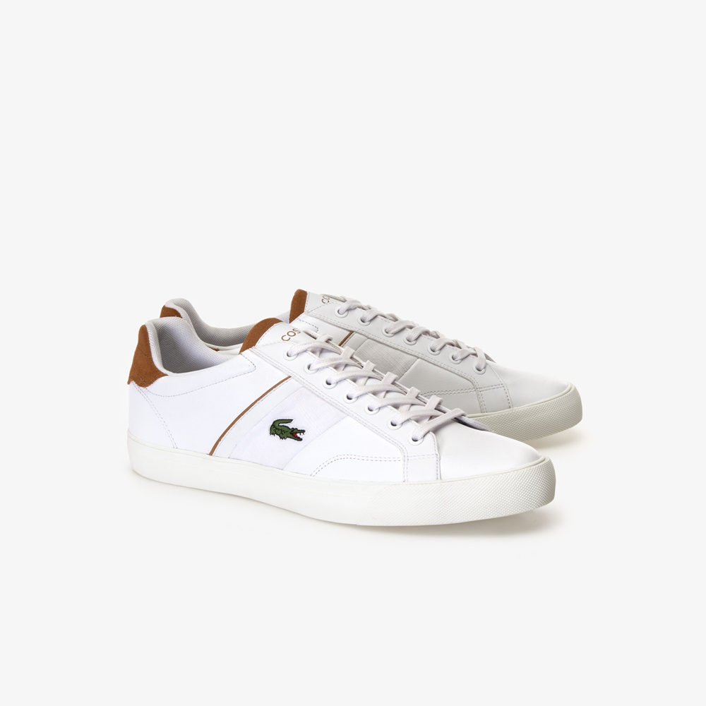 Zapatillas LACOSTE FAIRLEAD 119 1 BROWN para hombre en color blanco. Ref.: 37CMA0035 2J8-e