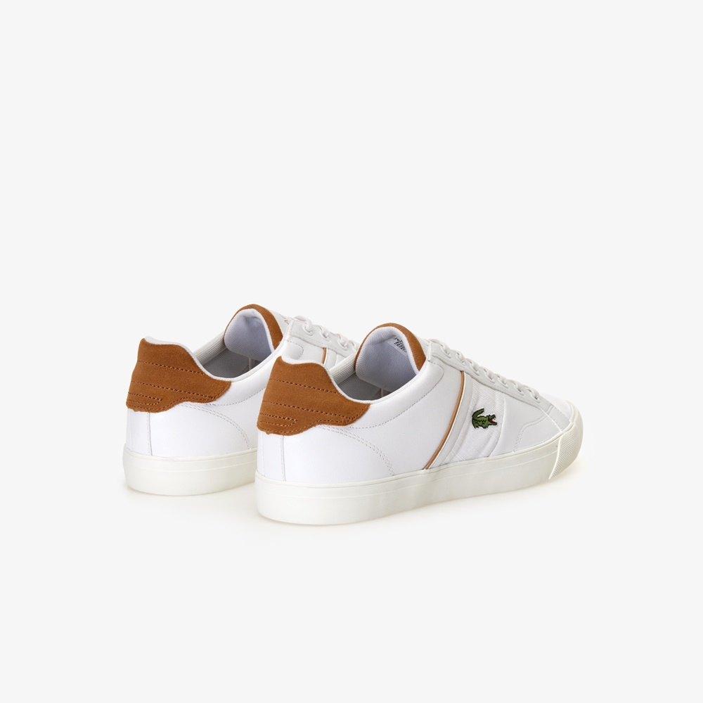Zapatillas LACOSTE FAIRLEAD 119 1 BROWN para hombre en color blanco. Ref.: 37CMA0035 2J8-a
