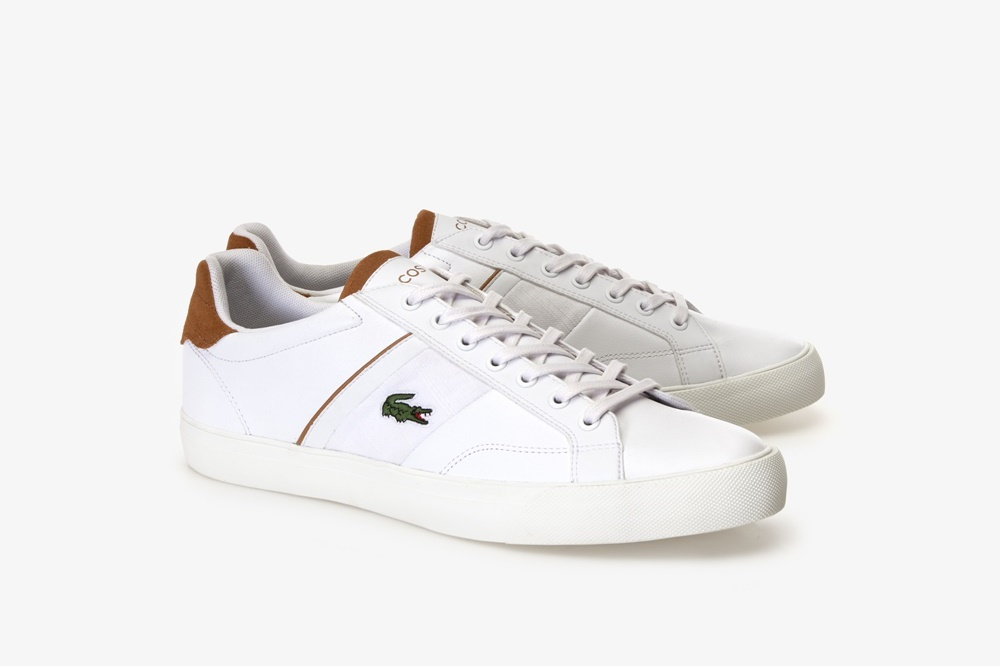 LACOSTE FAIRLEAD 119 1 WHITE/LIGHT BROWN