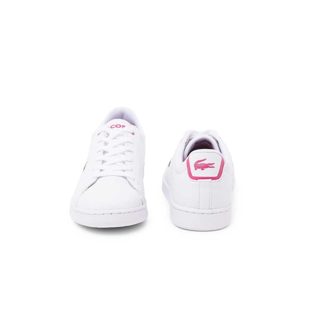 Zapatillas Lacoste modelo Carnaby para junior en color blanco con rosa-c
