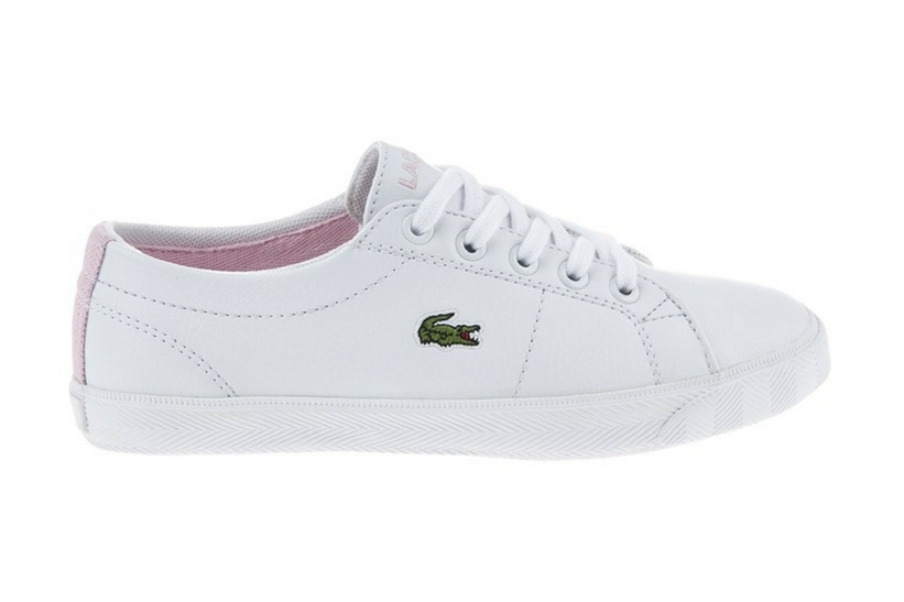 Zapatillas Lacoste modelo Riberac en color blanco con rosa para junior-c