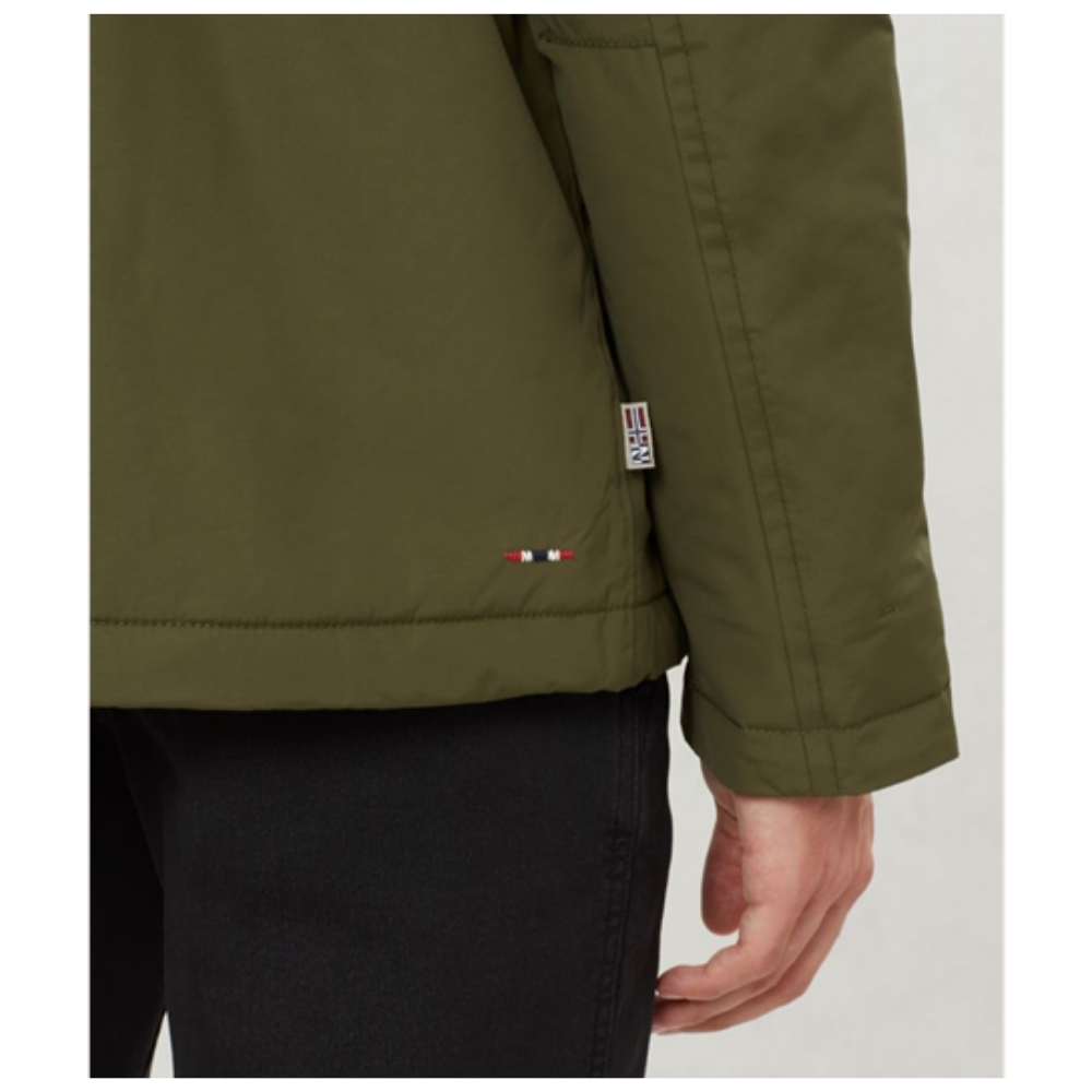 Abrigo Napapijri RAINFOREST POCKET en color verde para hombre-a