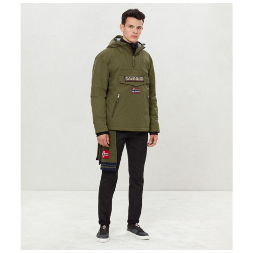 Abrigo Napapijri RAINFOREST POCKET en color verde para hombre-k