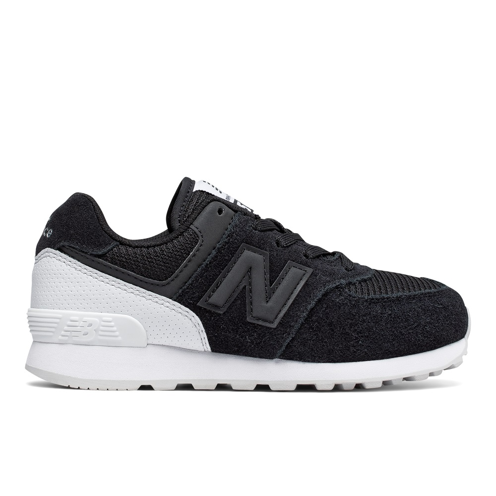 Zapatillas New Balance modelo KL574 c8g en color negro para junior-d