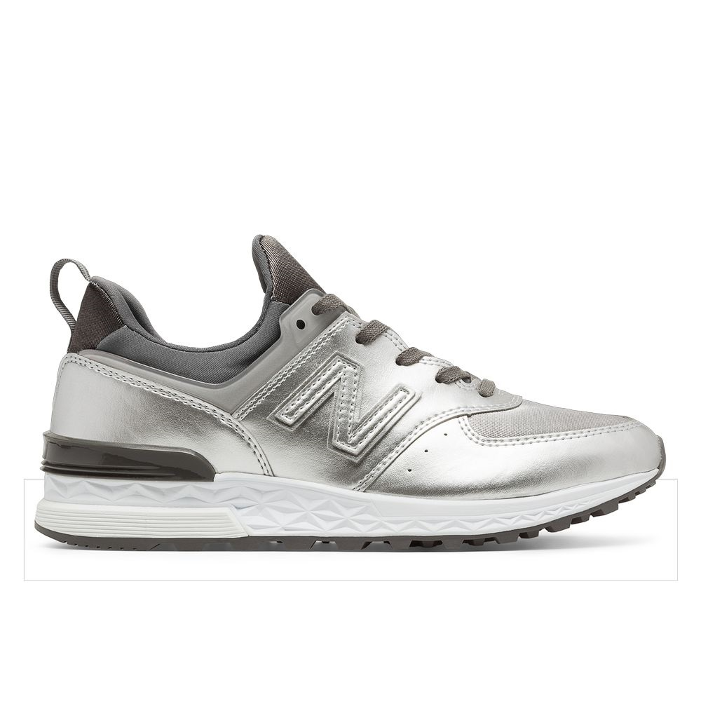 zapatillas new balance plata