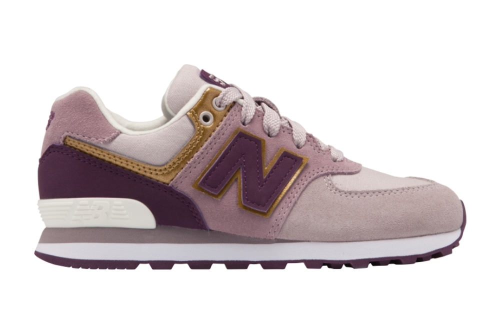 Zapatillas New Balance GC574 LIGHT CASHMERE para mujer en color malva y rosa-d