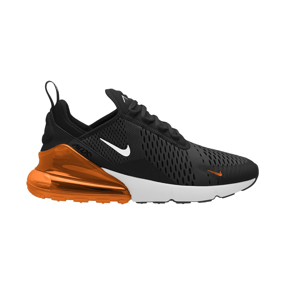 the latest ee836 842c2 Zapatillas Nike modelo Air Max 270 en color negro con naranja para hombre-b