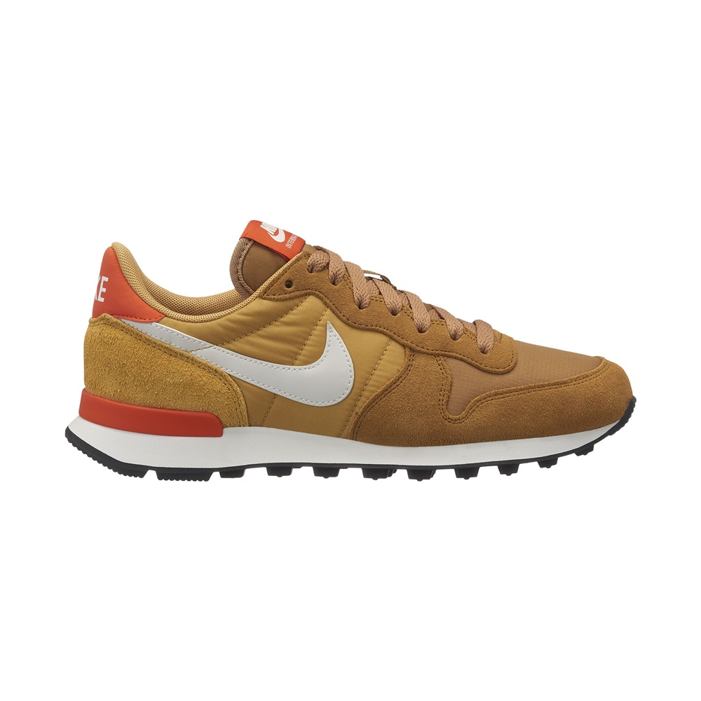Zapatillas Nike modelo internationalist en color naranja con amarillopara mujer-a
