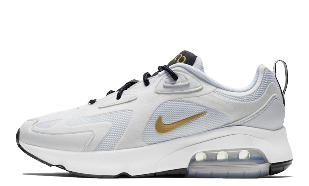 NIKE AIR MAX 200 WHITE/METALLIC GOLD-BLACK