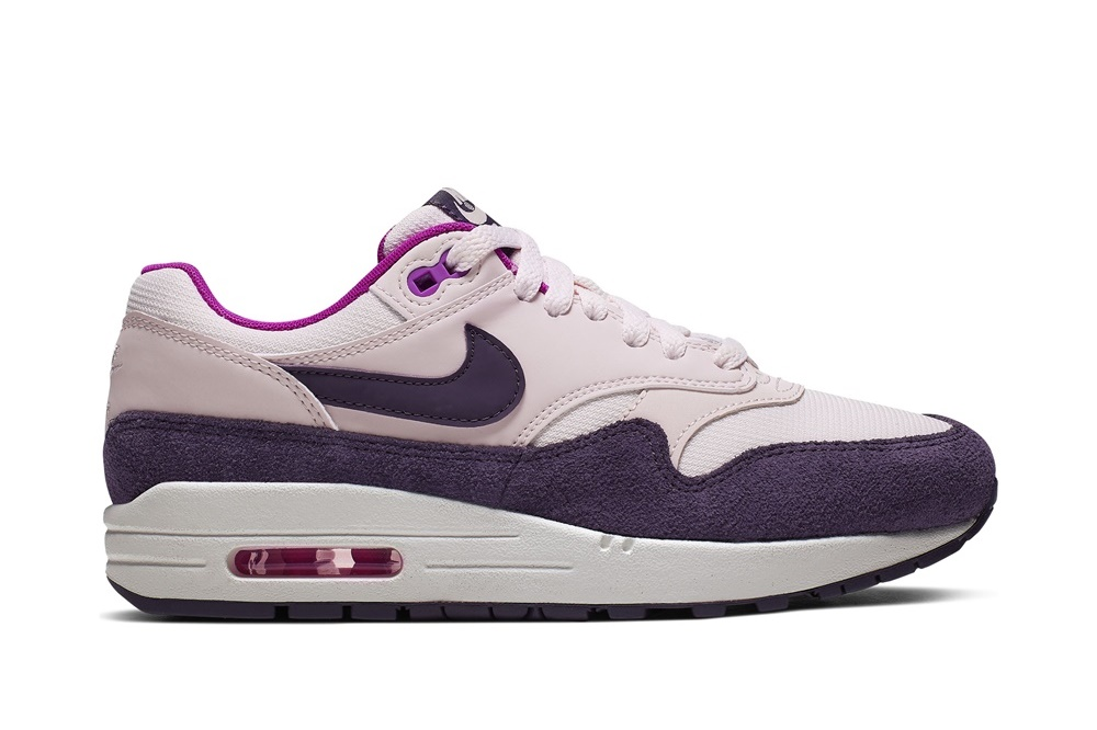 NIKE AIR MAX 1 LIGHT SOFT PINK/GRAND PURPLE
