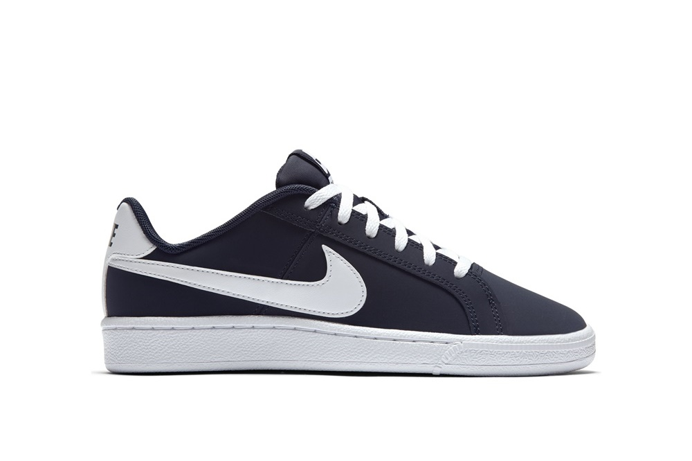 NIKE BOYS' NIKE COURT ROYALE (GS) SHOE Obsidian/White