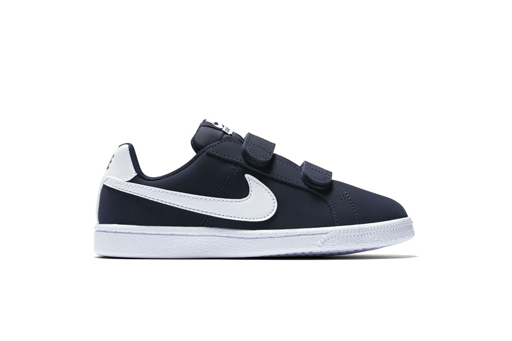 NIKE BOYS' NIKE COURT ROYALE (PS) PRE-SCHOOL SHOE Obsidian/White