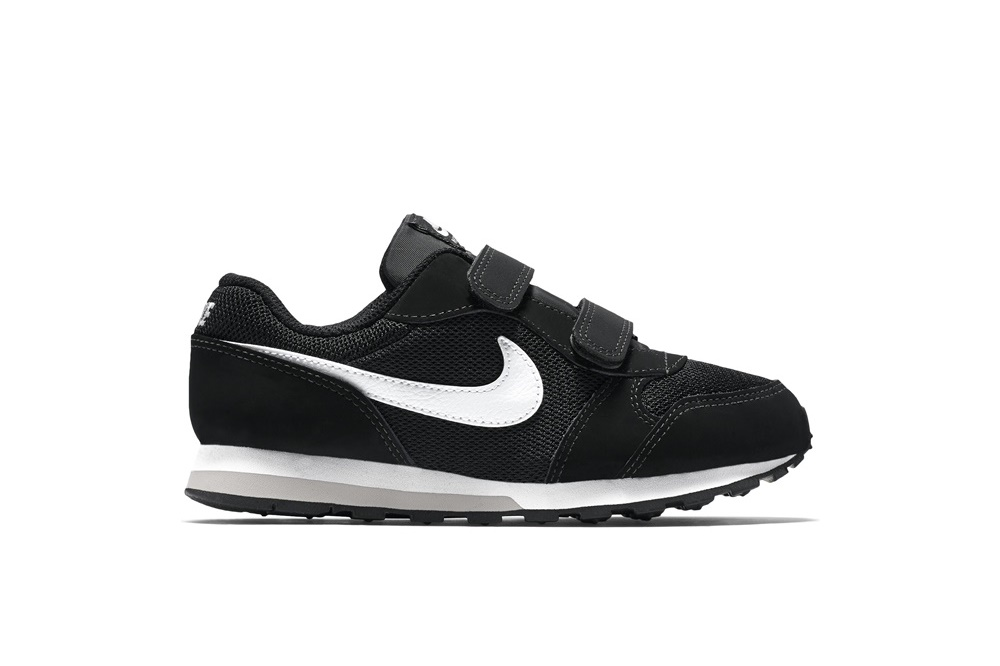 NIKE BOYS' NIKE MD RUNNER 2 (PS) PRE-SCHOOL SHOE BLACK/WHITE-WOLF GREY