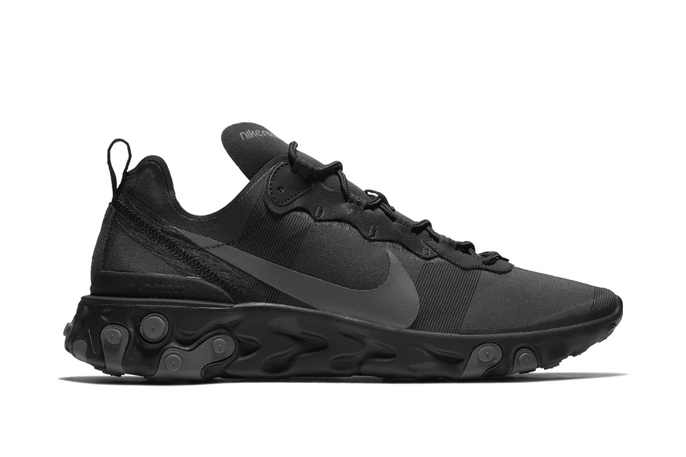 NIKE REACT ELEMENT 55 BLACK/DARK GREY
