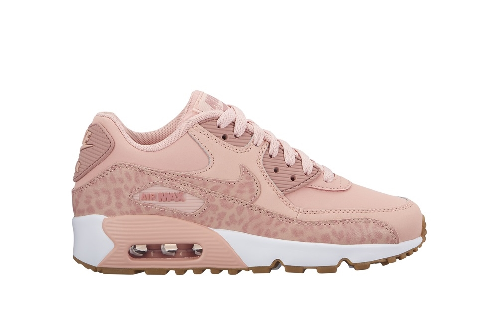 Zapatillas Nike modelo Air Max 90 Leather en color rosa para junior-c