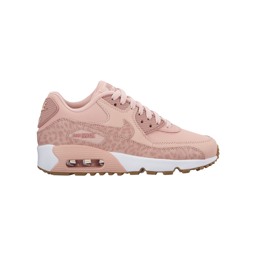 Zapatillas Nike modelo Air Max 90 Leather en color rosa para junior