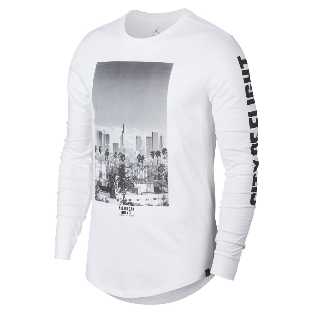 Camiseta Nike Jordan modelo City Of Flight en color blanco para hombre-b 79624bf241b