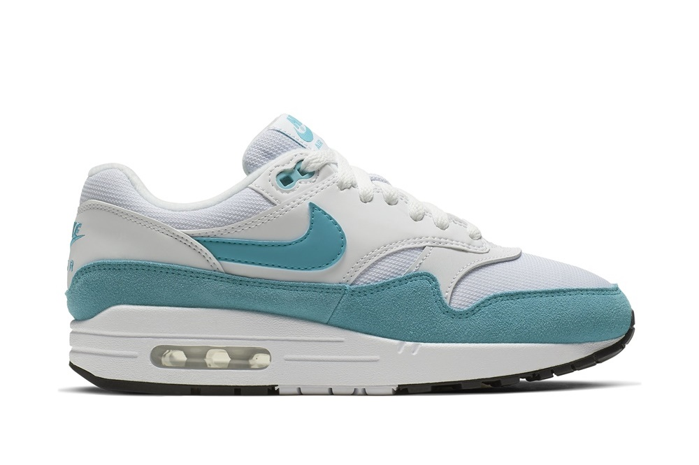 NIKE AIR MAX 1 PREMIUM WHITE/LT BLUE FURY-BLACK