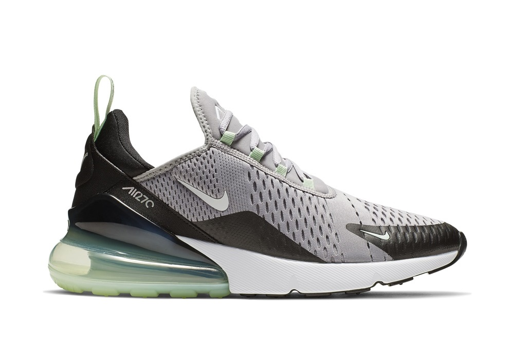 NIKE NIKE AIR MAX 270 ATMOSPHERE GREY/WHITE-FRESH MINT-BLACK