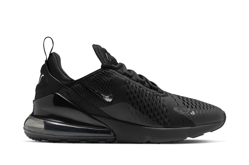NIKE AIR MAX 270 BLACK/CHROME-PURE PLATINUM-ANTHRACITE