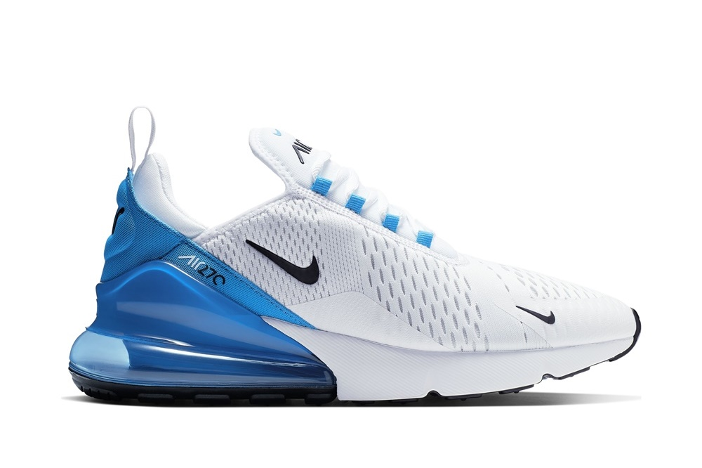 NIKE AIR MAX 270 WHITE/BLACK-PHOTO BLUE-PURE PLATINUM
