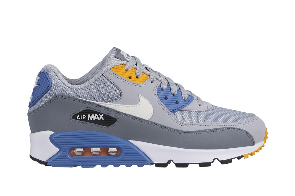 NIKE AIR MAX 90 ESSENTIAL WOLF GREY/WHITE-INDIGO STORM