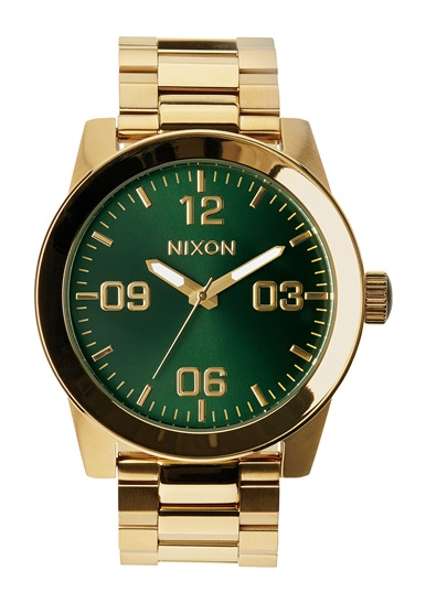 NIXON CORPORAL SS GOLD/GREEN