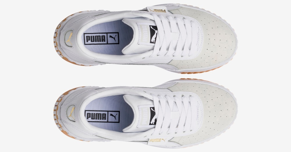 Zapatillas Puma modelo California Exotic en color blanco para mujer-d