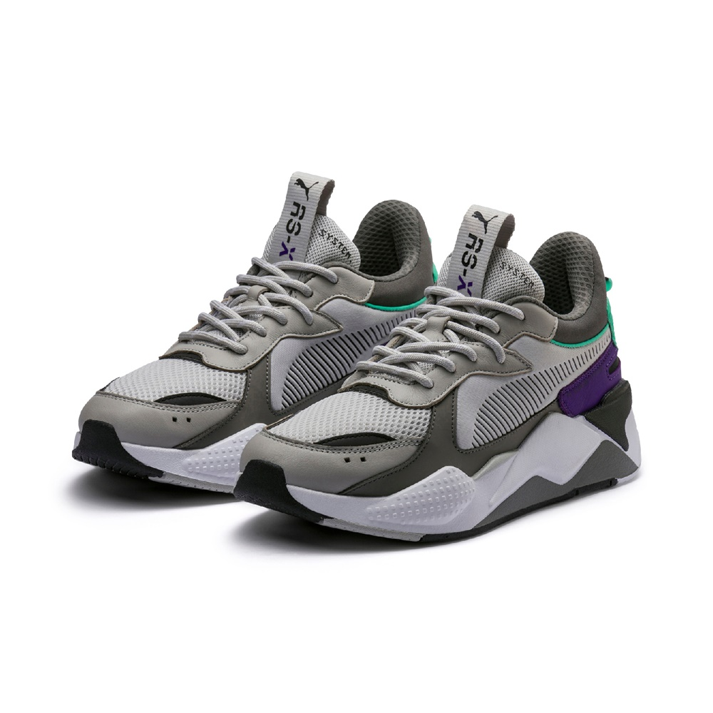 Zapatillas Puma RS-X TRACKS GRAY CHARCOAL para hombre en color gris y violeta-c