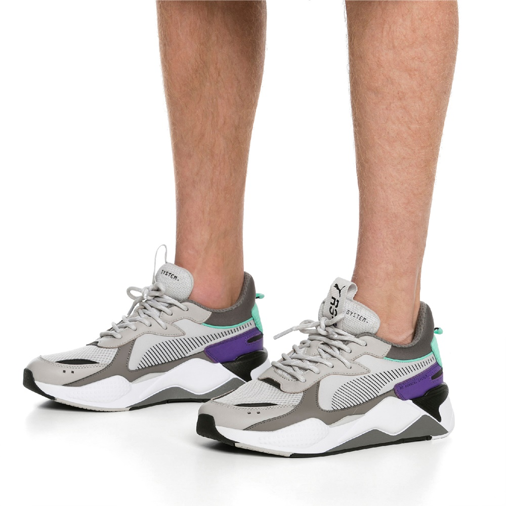 Zapatillas Puma RS-X TRACKS GRAY CHARCOAL para hombre en color gris y violeta-e
