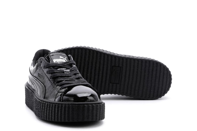 Zapatillas Puma modelo Creepers Wrinkled Patent en color negro para mujer-d