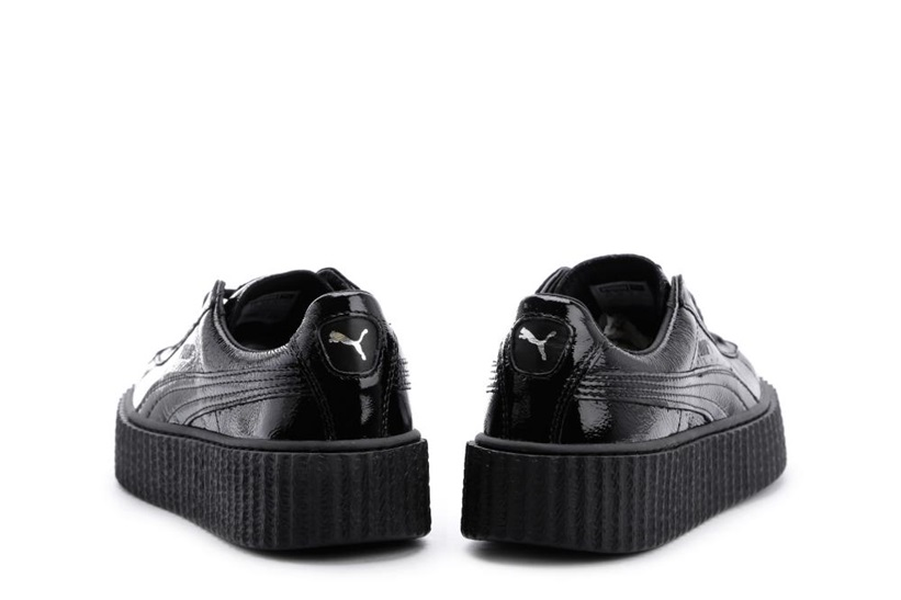 Zapatillas Puma modelo Creepers Wrinkled Patent en color negro para mujer