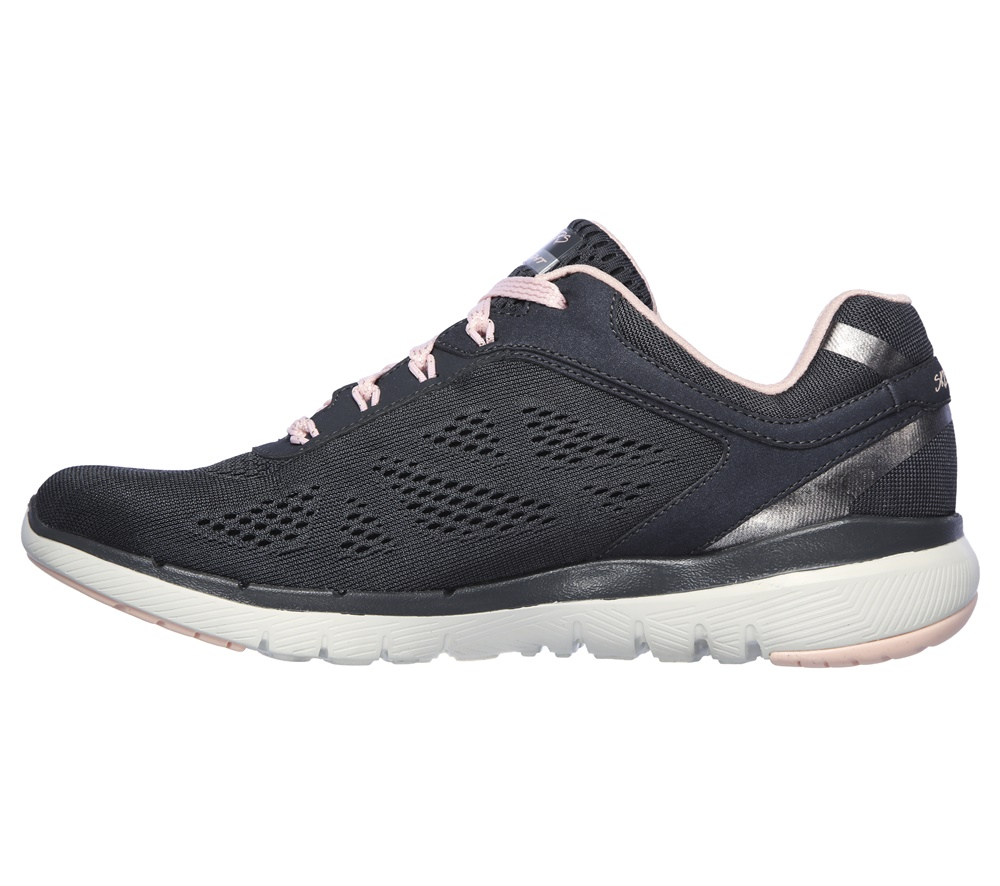 Zapatillas Skechers modelo Flex Appeal 3.0 Moving Fast en color gris para mujer