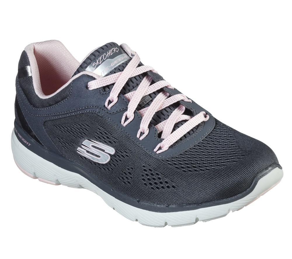 Zapatillas Skechers modelo Flex Appeal 3.0 Moving Fast en color gris para mujer-e