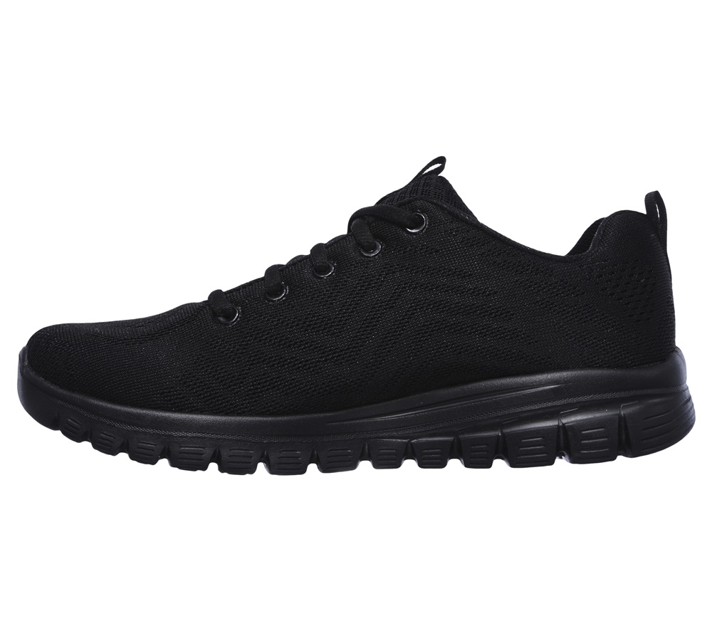 Zapatillas Skechers modelo Graceful Get Connected en color negro para mujer