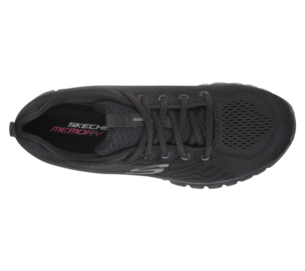 Zapatillas Skechers modelo Graceful Get Connected en color negro para mujer-c